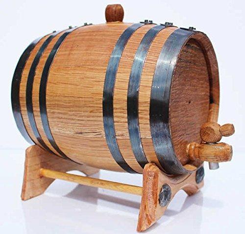 barril de roble para añejar whiskey vino licores 2 litros lp