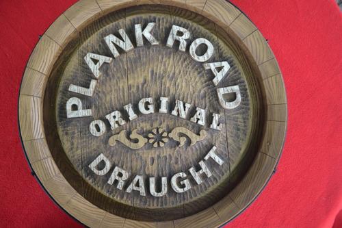 barril letrero volumétrico plank road año 1985 nuevo