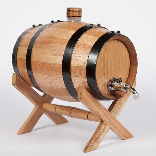 barril para añejar licor 1.5 litros grifo metálico