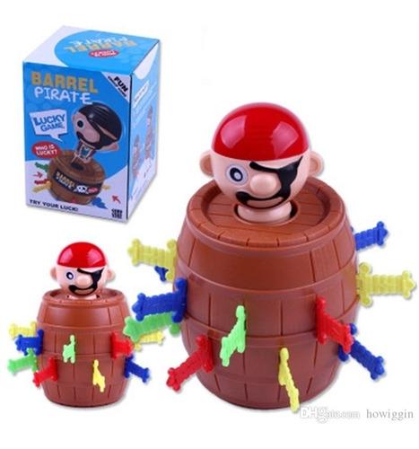 barril pula pirata brinquedo jogo infantil 13cm grande adaga