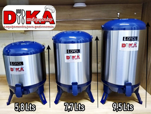 barril térmico orcil com depósito 5,8 litros dreno exclusivo