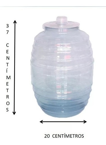 barril vitrolero de plástico 10 lts c/cucharón