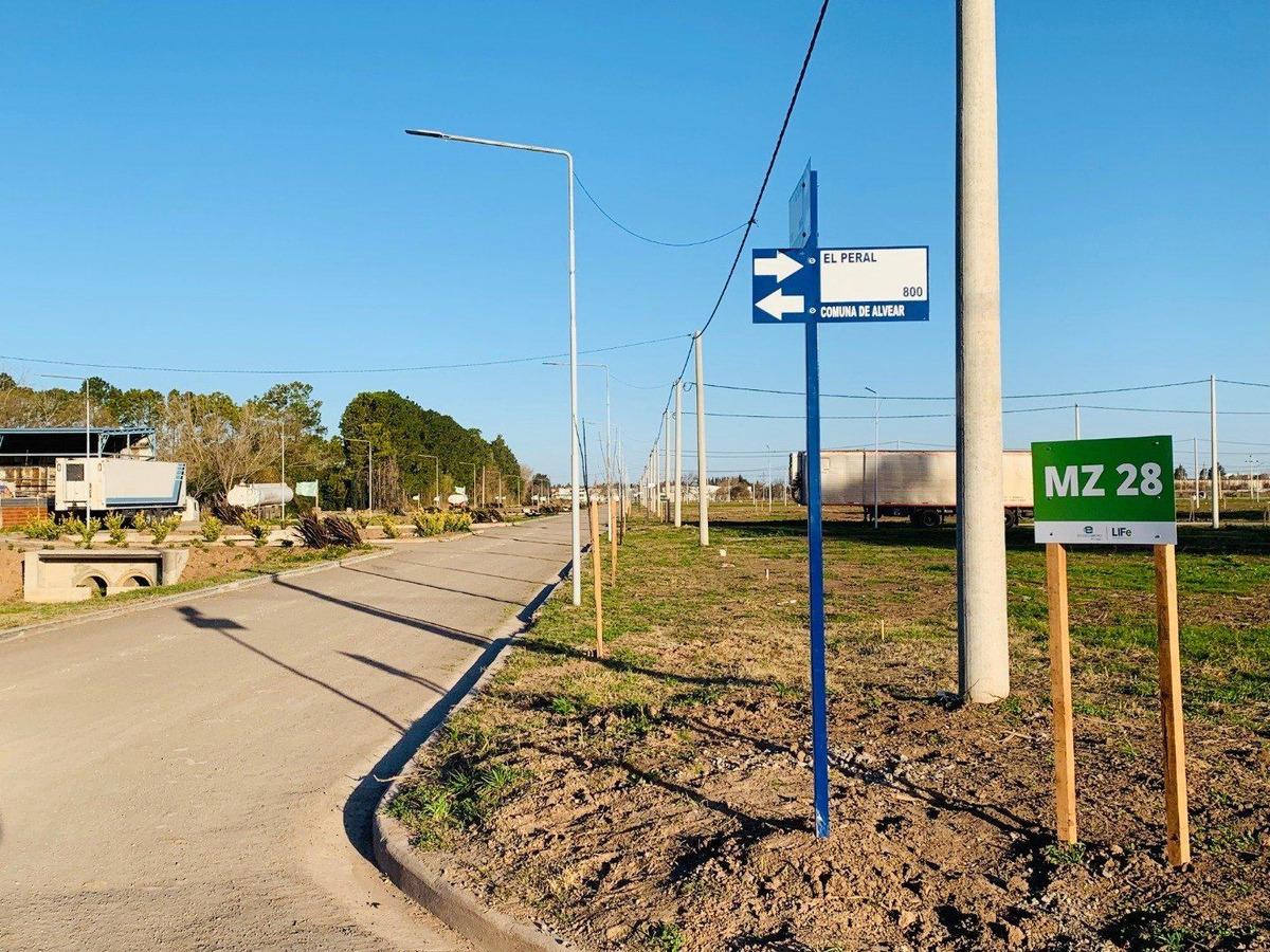 barrio abierto ecopueblo. alvear. rapido acceso. terreno de 250 m2. entrega inmediata.