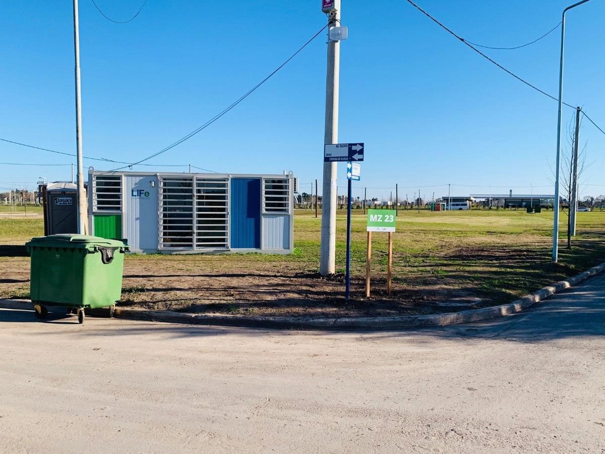barrio abierto ecopueblo.  entrega inmediata. alvear. desde 243 m2. todos los servicios ultimos lotes.