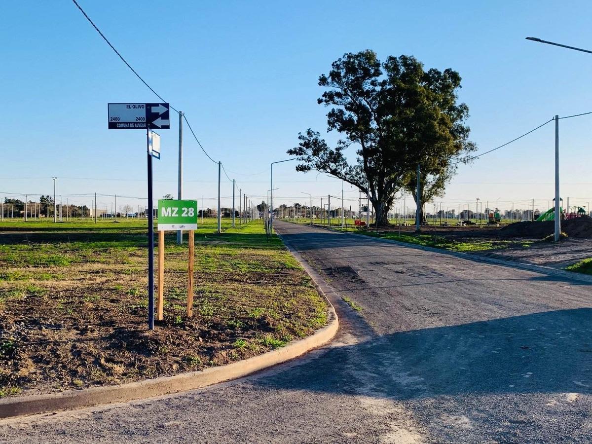 barrio abierto ecopueblo. entrega inmediata en alvear. lotes desde 243 m2. todos los servicios.