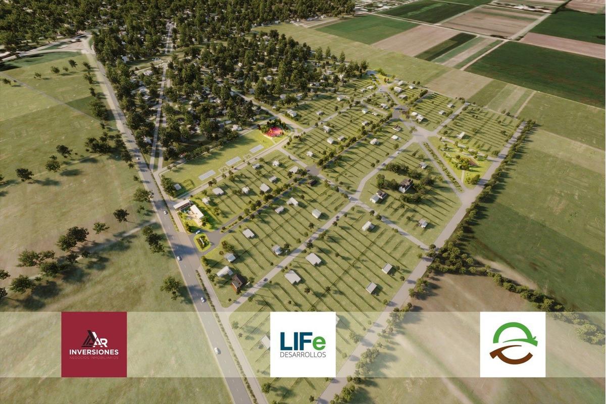 barrio abierto ecotierra. lotes financiados en pueblo esther a tu medida. desde 300 m2.