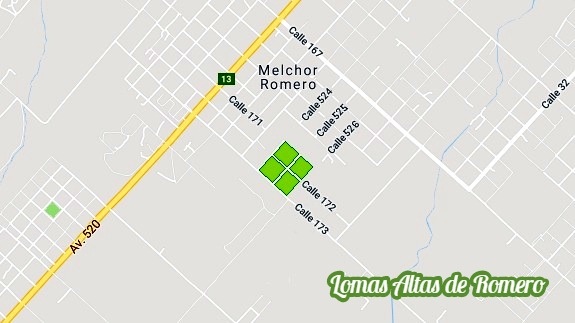 barrio abierto lomas altas de romero - vende lote 15 x 40 m. (id 7861)