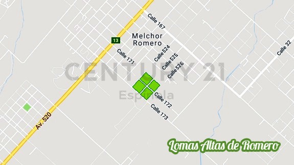 barrio abierto lomas altas de romero - vende lote 3050 m² . (id 7863)