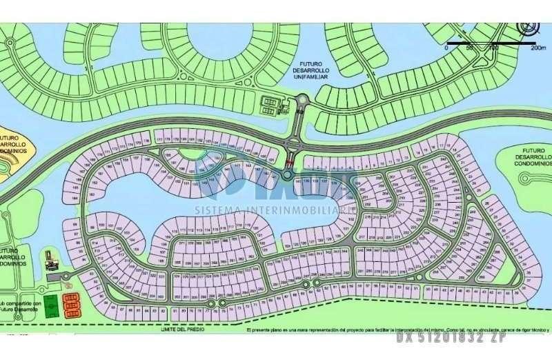 barrio cerrado puertos del lago - acacias - lote venta usd 90.000