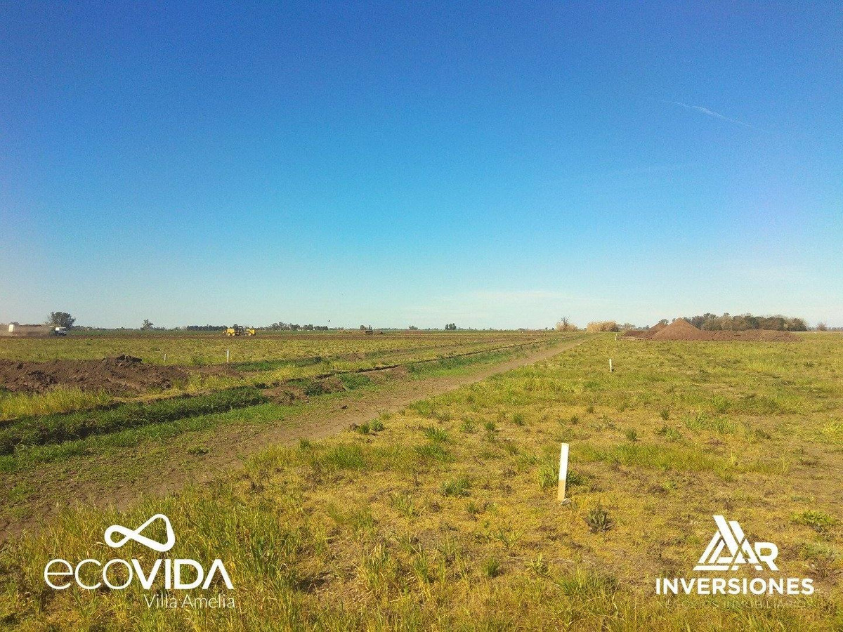 barrio ecovida. terrenos financiados en pesos. lotes desde 300 m2.  sobre ruta 18.