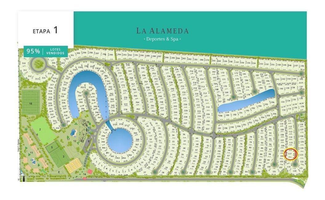 barrio la alameda - lote 117 de 761 m2 - canning