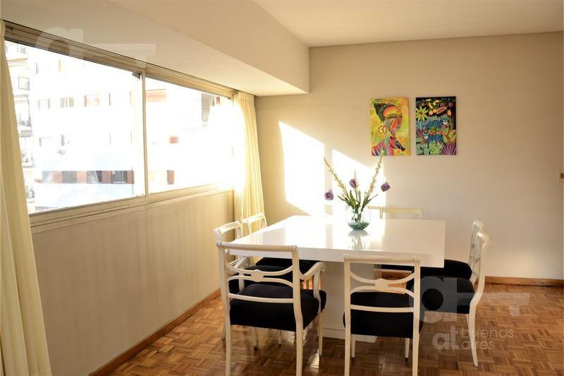 barrio norte. departamento 3 ambientes con balcón.
