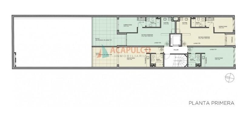 barrio soho de montevideo 1 dormitorio con patio-ref:508