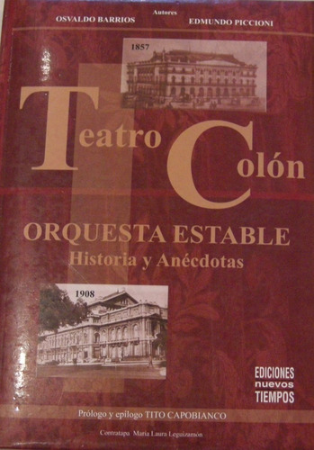 barrios teatro colon orquesta estable raro y único no envio