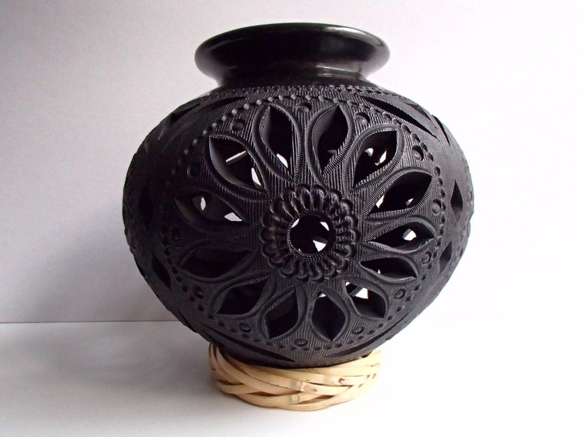 Barro negro oaxaque o bella olla c ntaro grabado de flor for Fregaderos de barro