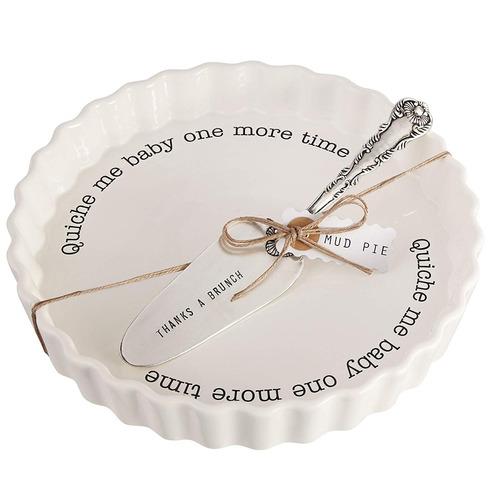 barro pastel quiche panadero set servicio , blanco (4801014)