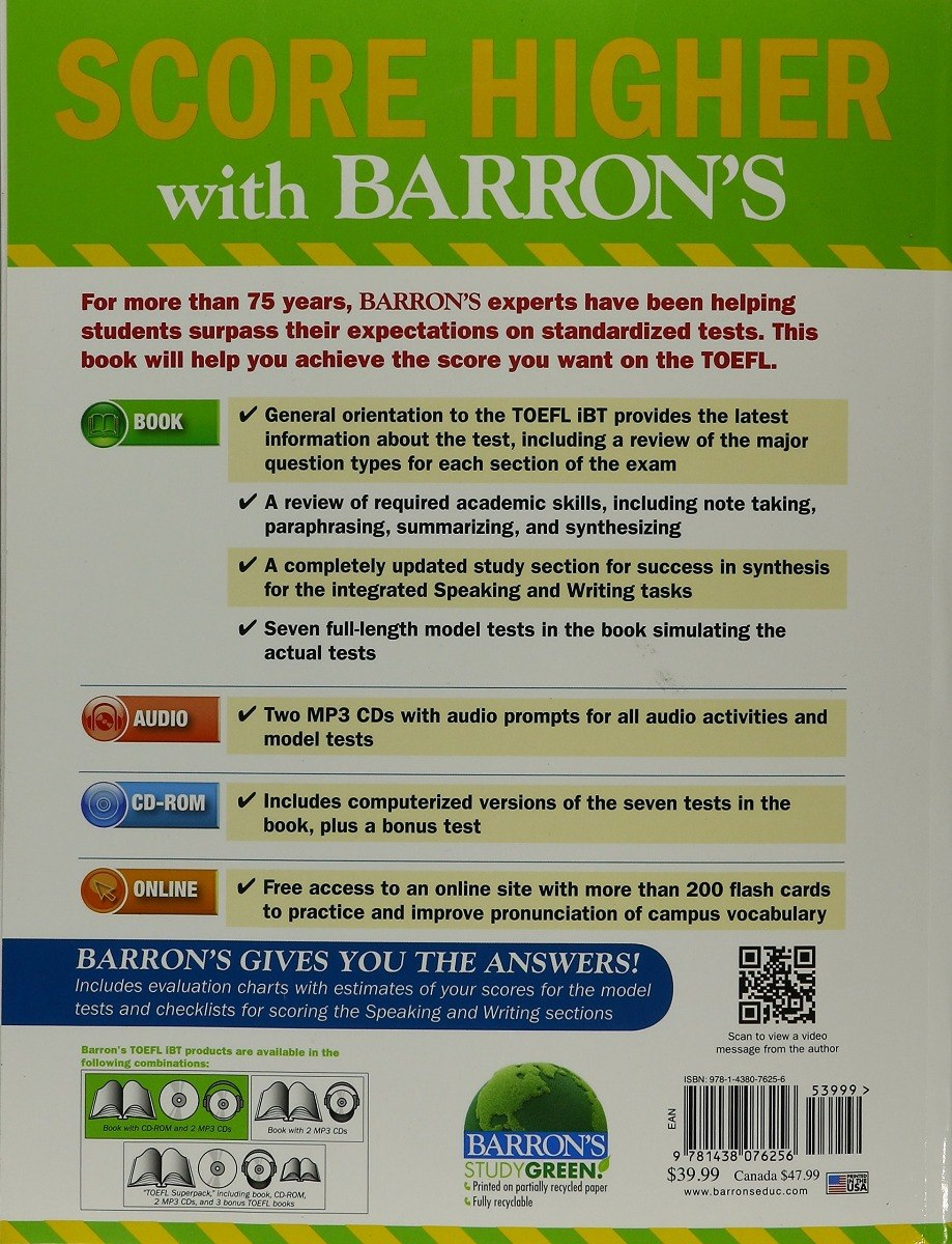 Barrons toefl ibt with cd rom and mp3 audio cds 15th editi r carregando zoom fandeluxe Choice Image