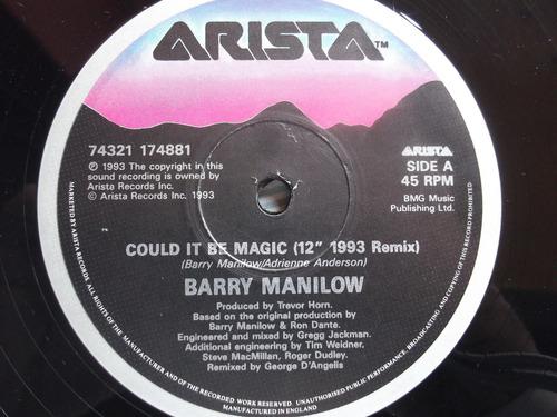 barry manilow - could it be magic- 1993 remix- acetato