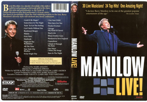 barry manilow - manilow live!