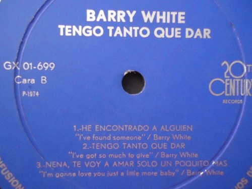 barry white / i've got so much to give vinyl lp acetato nac