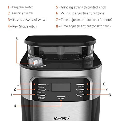 barsetto cafetera + molino cafe electrico 10 tazas