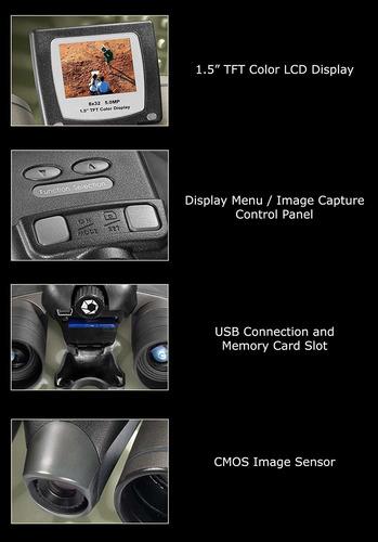 barska 8x 32binocular & integrado 8.0mp cámara digital