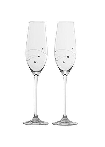 barski - vidrio hecho a mano - set de 2 - flautas de champ