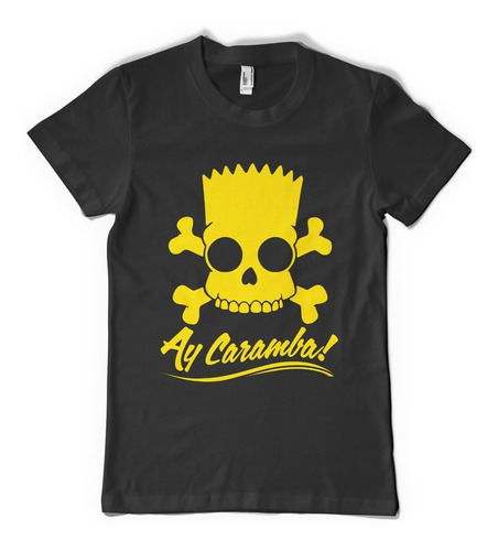 bart simpson ay! caramba remera  - color animal