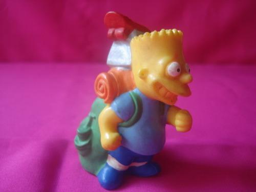 bart simpsons mochilero - the simpsons - juguete goma dura