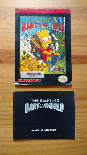 bart vs the world the simpsons c/ manual nes original