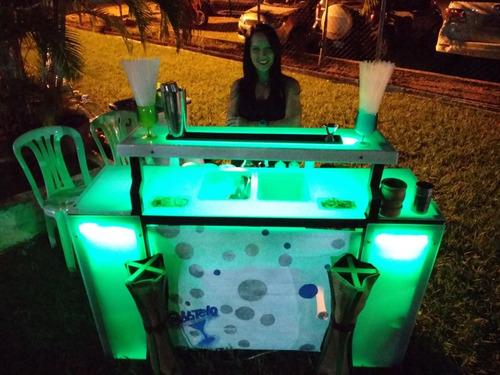bartender, barra móvil, servicio de organización de eventos