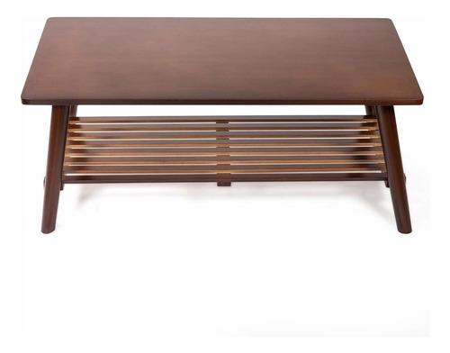 barton mesa de café rectangular plegable de madera de bam