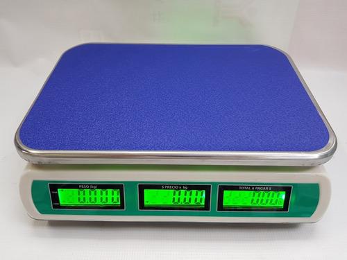 báscula 40 kg electrónica peso precio total recargable c/luz