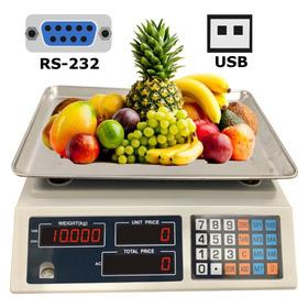 Bascula Balanza Para Sistema Pos Rs232 Usb 30kg Conexion