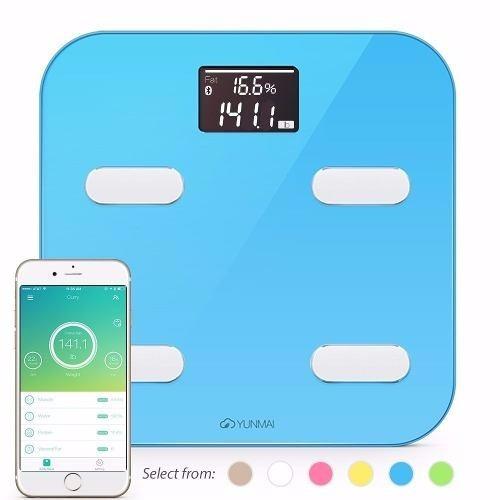 bascula bluetooth 10 indicadores composicion balanza 4 color