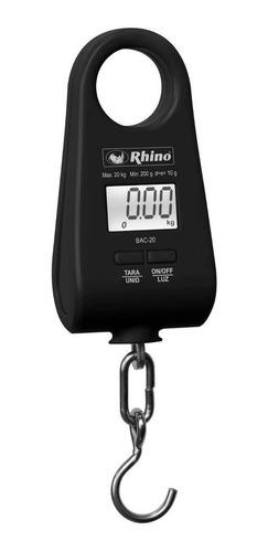 báscula comercial digital colgante rhino bac-20 20kg negro