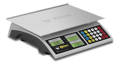 báscula comercial digital rhino bar-7 30kg 110v gris