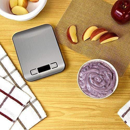 báscula de cocina digital acero inoxidable 5kg incluy pilas