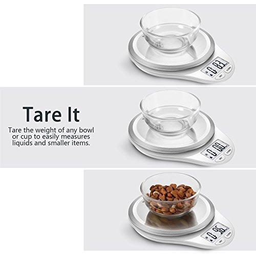 báscula de cocina digital con rascador de masanutri fit bá