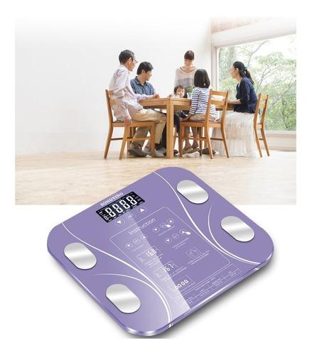 báscula de grasa corporal de pesaje electrónico de peso de l