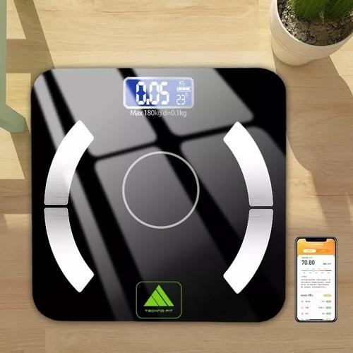 bascula digital 180kg bluetooth 9tipos medición corporal app
