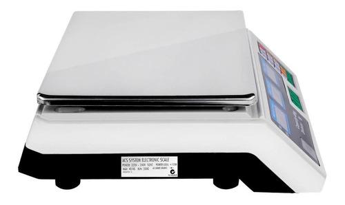 bascula digital 40 kg comercial pantalla lcd función tara