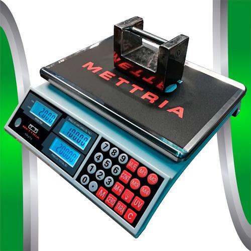bascula digital 40 kg mettria detector de billetes falsos