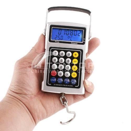 báscula digital colgante 20gr a 50kg - 20 gramos a 50 kilos
