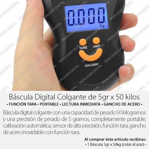 bascula digital colgante 50kg x 5gr - 5 gramos x 50 kilos