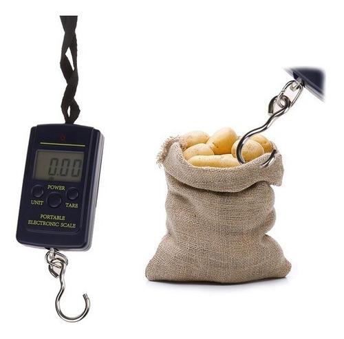 bascula digital colgante lcd 40kg portátil pesca viaje