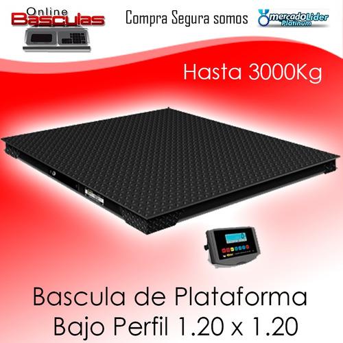 bascula digital de 3000 kg plataforma industrial