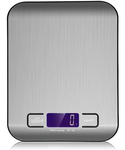 báscula digital de cocina acero inoxidable 5 kg gramera gym