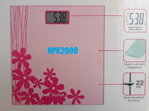 bascula digital de cristal premiss tefal pesa hasta 150 kg