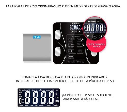 bascula digital electrónica de baño calcula grasa corporal